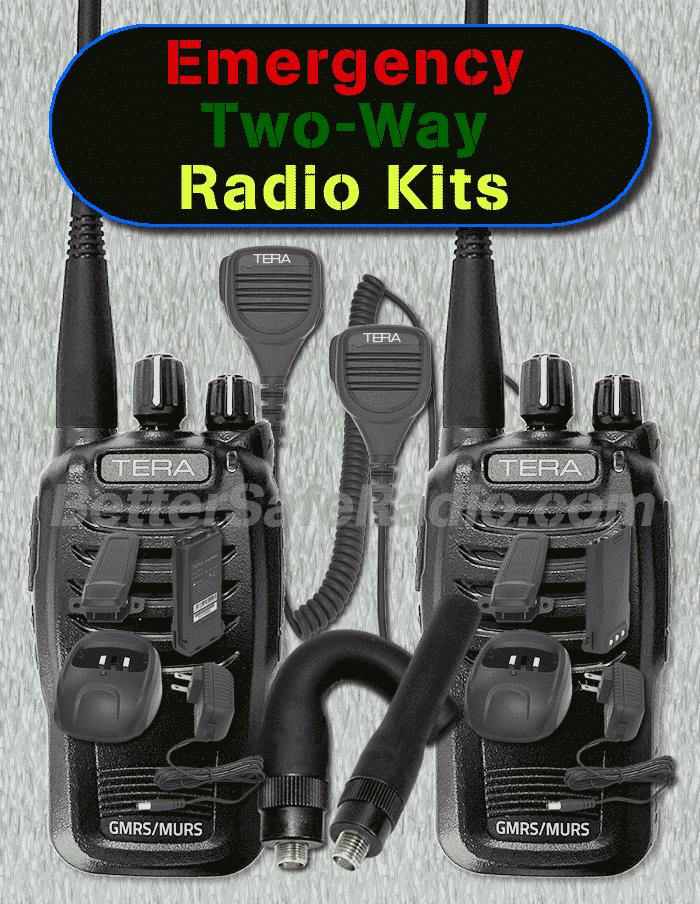 BSR Emergency Two-Way Radio Kits