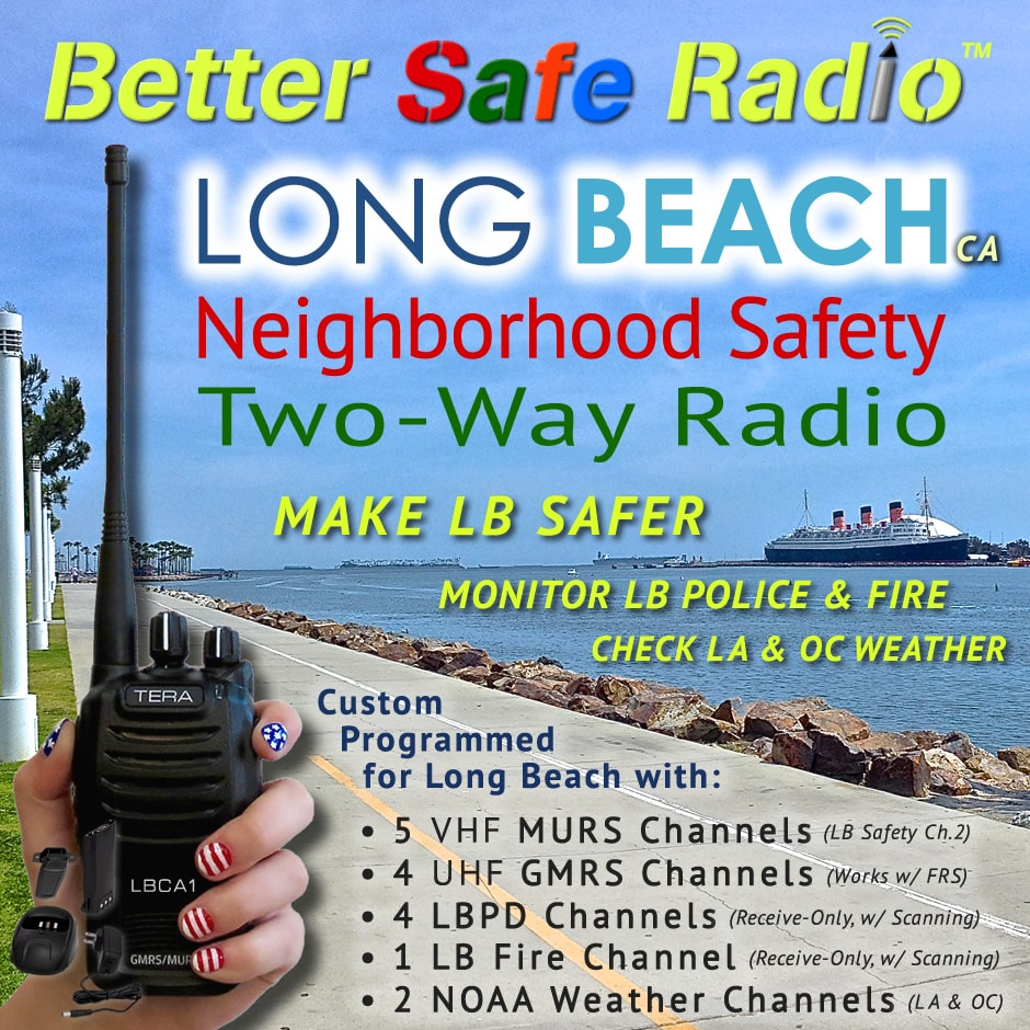 BetterSafeRadio TR-505-LBCA1 Long Beach Safety Radio Promo