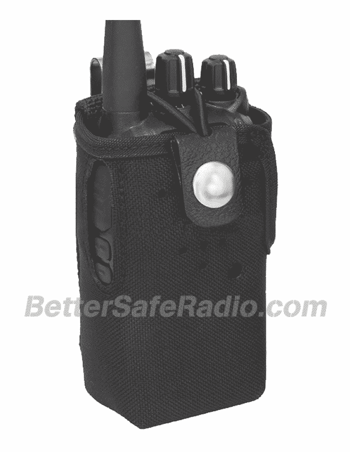 TERA CSC-500 Heavy Duty Nylon Radio Case with Stainless Belt Clip