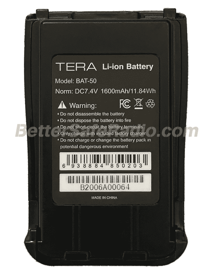 TERA TR-505 GMRS-MURS Two-Way Radio - Battery Inside