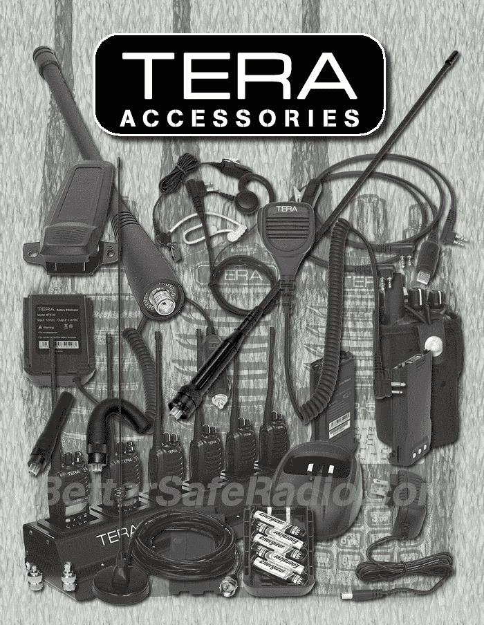 TERA 500-Series Handheld Two-Way Radio Accessories