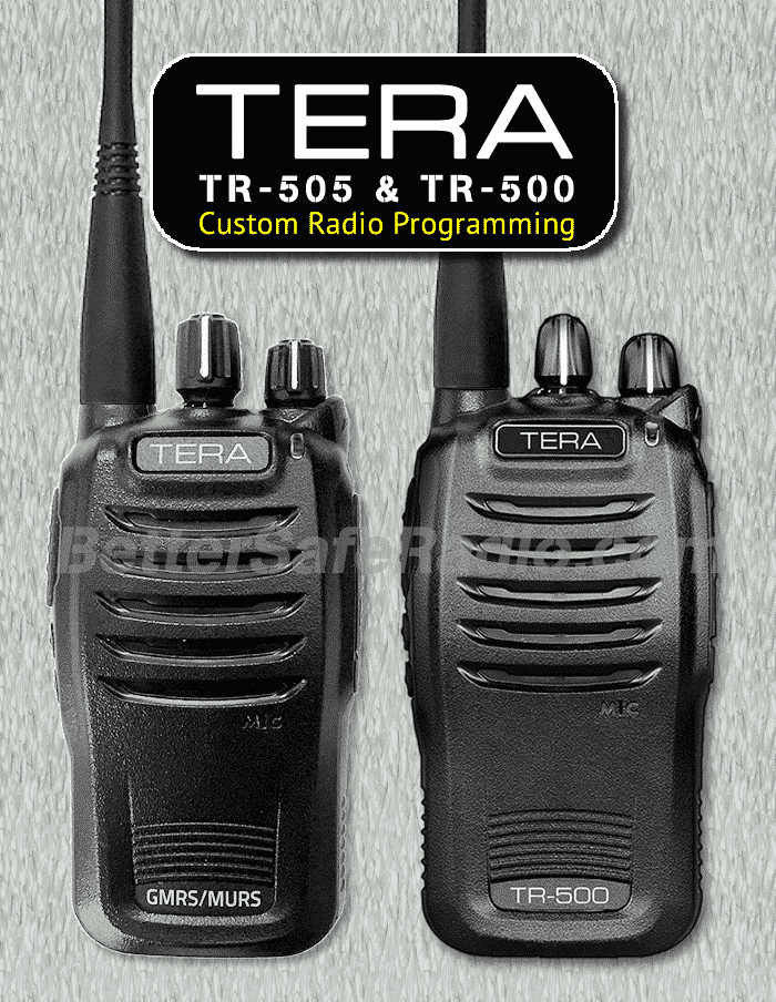 TERA TR-505 & TR-500 Custom Radio Programming