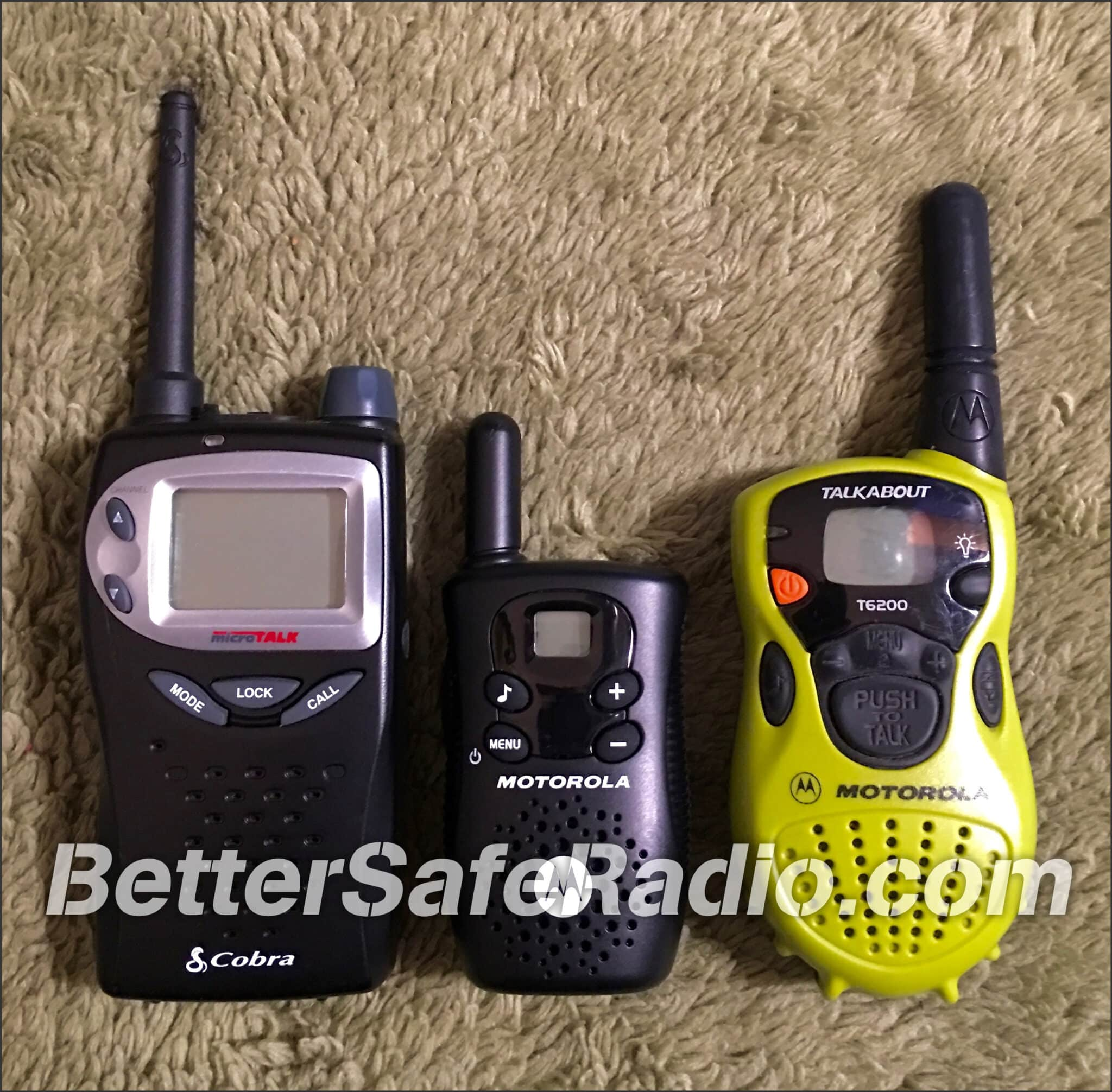 Typical FRS Radios