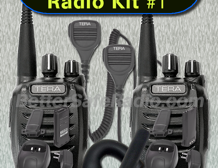 The New BSR Emergency Two-Way Radio Kit #1 – GMRS & MURS for Two!