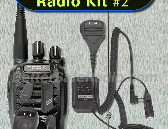 The New BSR Emergency Two-Way Radio Travel Kit #2 – GMRS, MURS & WX In Your Vehicle or On Your Hip!