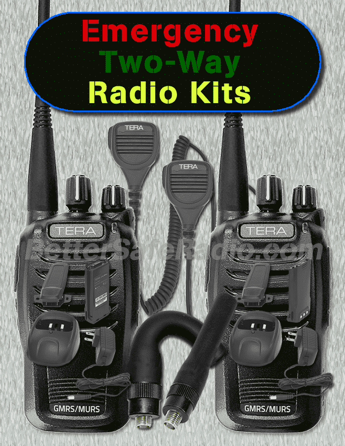 BSR Emergency Two-Way Radio Kits