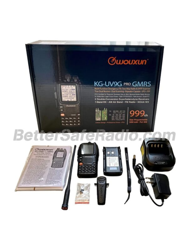 BSR Wouxun KG-UV9G PRO GMRS Two-Way Radio - Box Contents