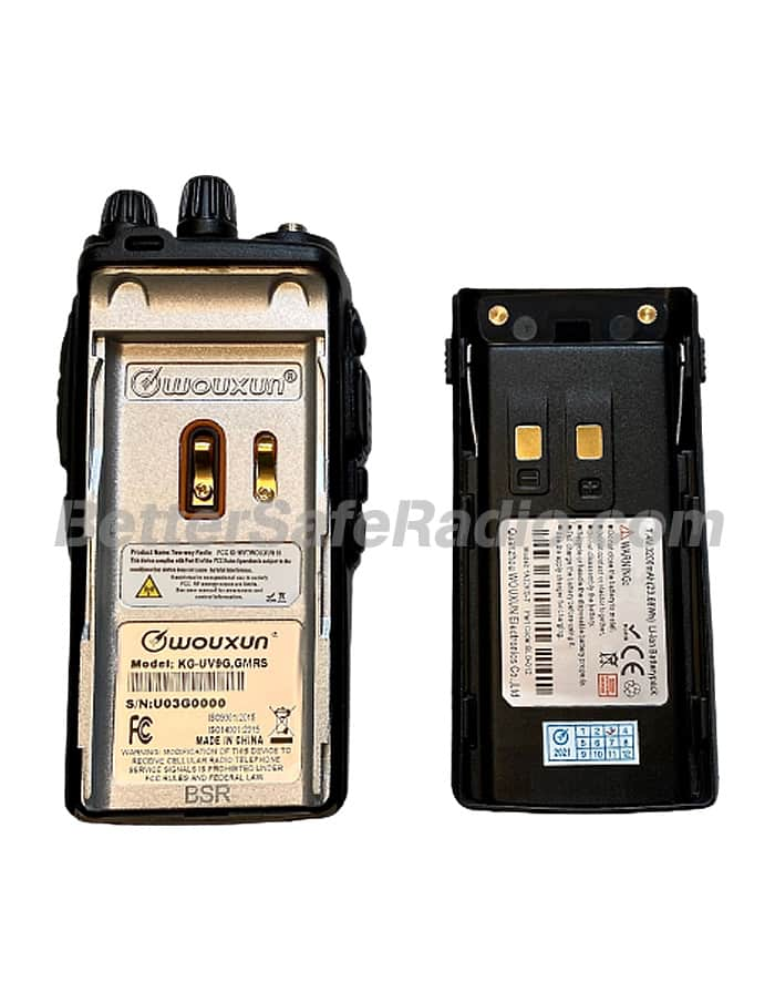 BSR Wouxun KG-UV9G PRO GMRS Two-Way Radio - Insides