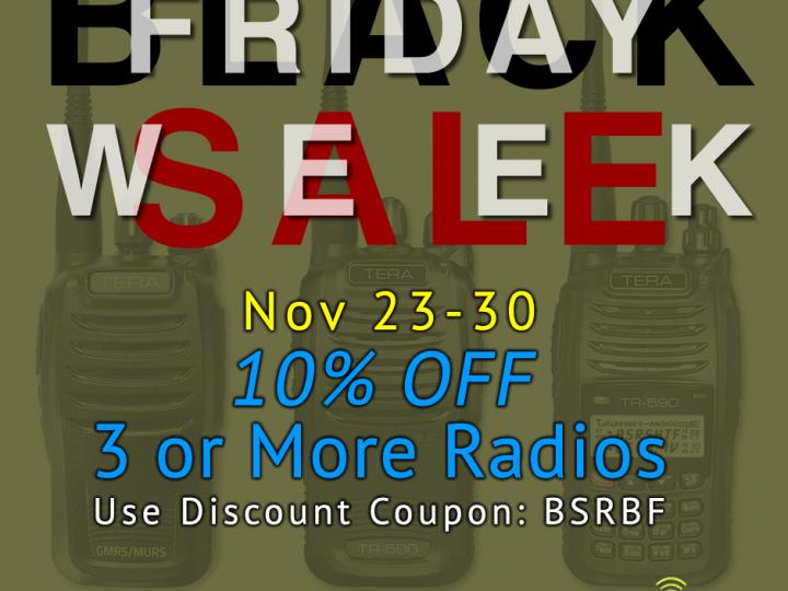 Black Friday Sale Week – Save 10% on 3+ Radios