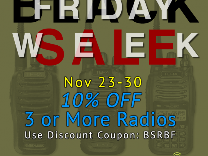 Black Friday Sale Week – Save 10% on 3+ Radios