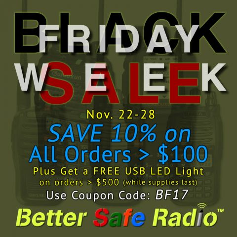 BetterSafeRadio Black Friday 2017 Sale