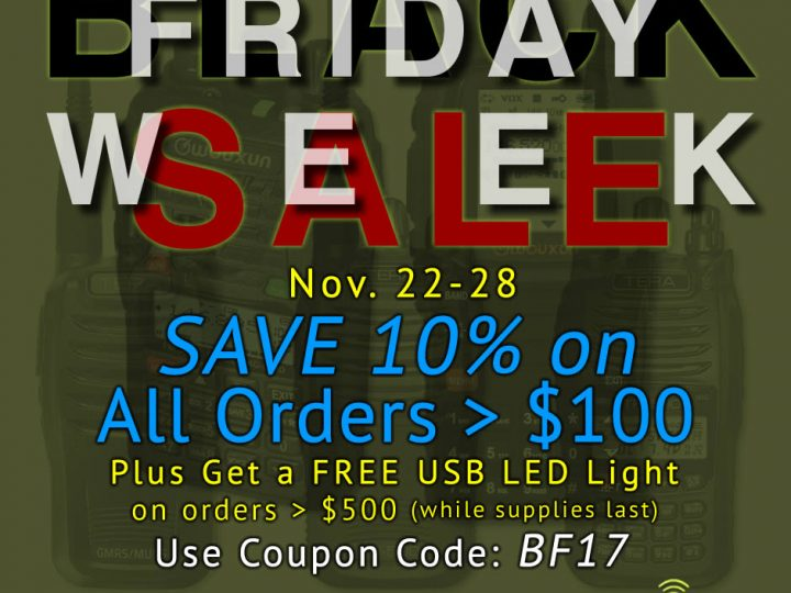 Black Friday SALE WEEK – Save 10% On All Two-Way Radio Gear!