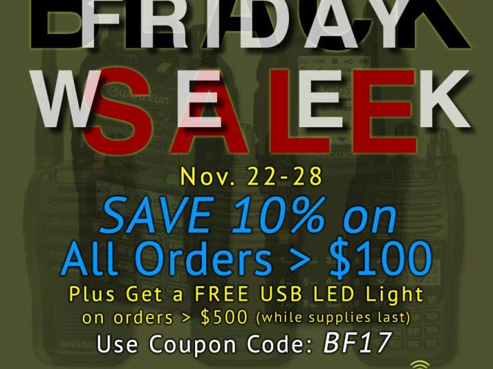 Black Friday SALE WEEK – Save 10% On All Two-Way Radio Gear!