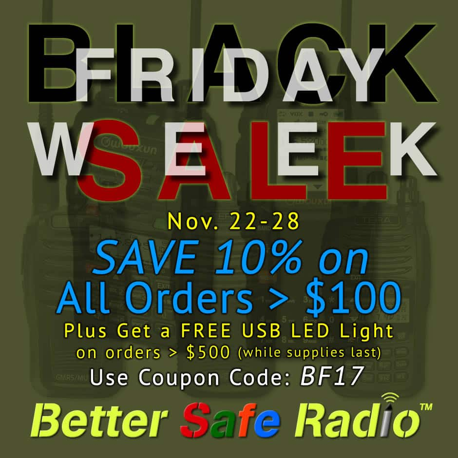 BetterSafeRadio Black Friday 2017 Sale