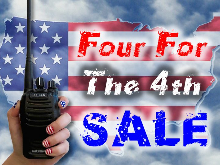 Celebrate American Independence with the BetterSafeRadio Four For The 4th SALE!