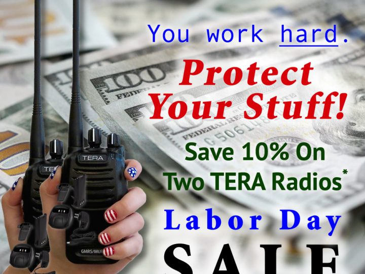 You Work Hard – Save 10% on Two TERAs – Labor Day SALE!