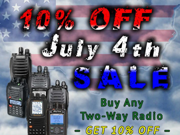 Celebrate Independence and Save 10% on All Emergency Two-Way Radios!