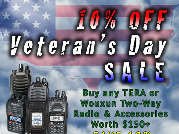 Save 10% on Two-Way Radios & Accessories for Veteran's Day 2017