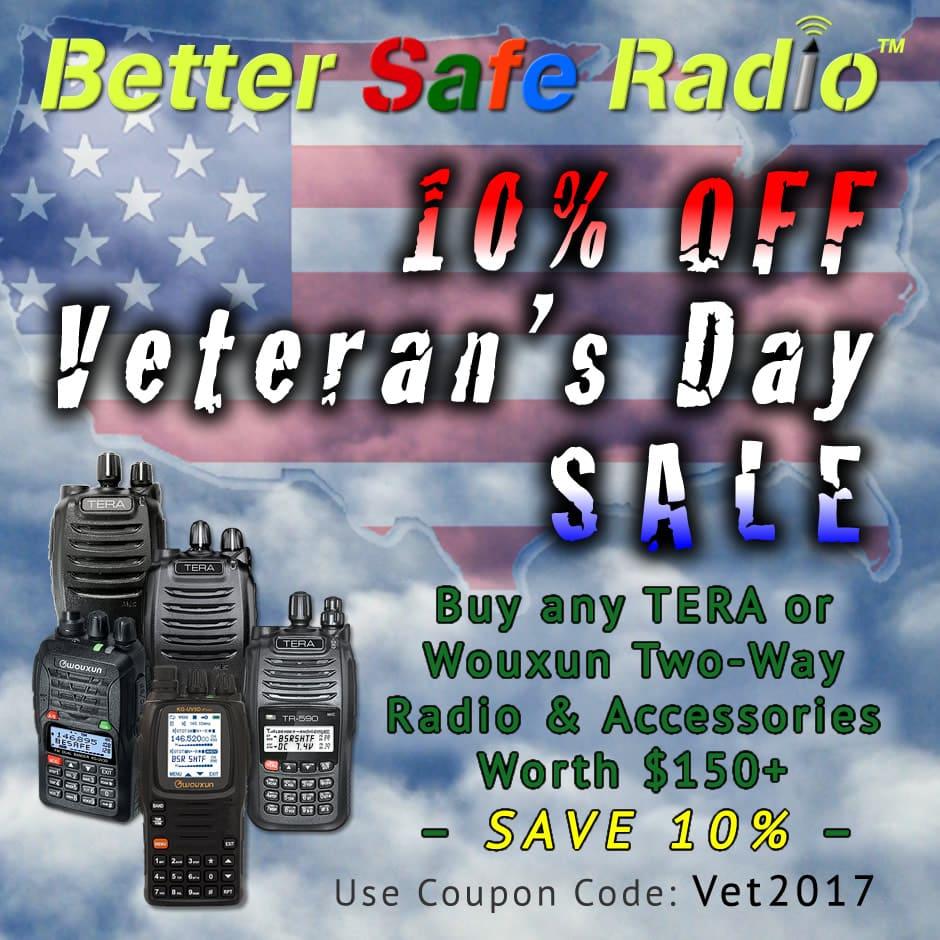 BetterSafeRadio Veteran's Day 2017 Sale