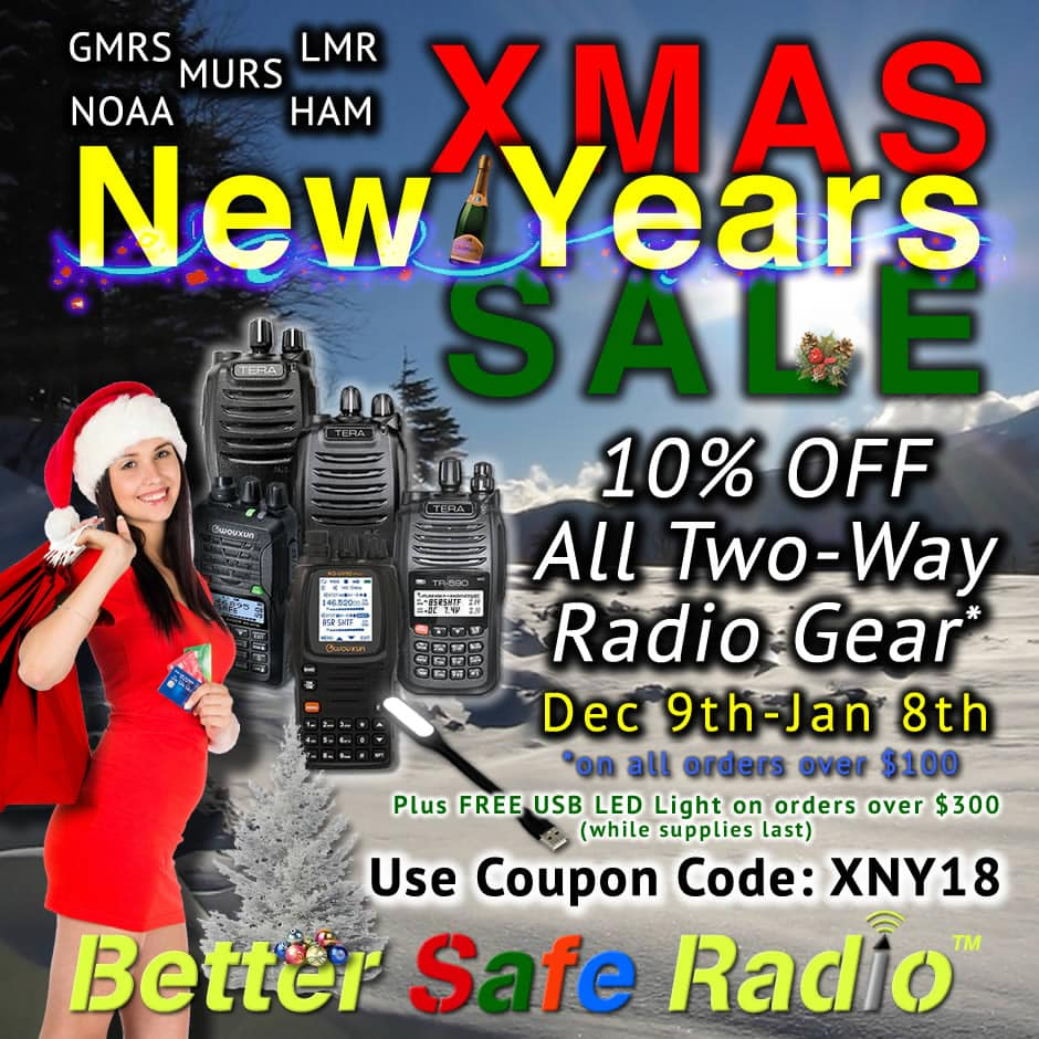 BetterSafeRadio Xmas New Years Sale Month 2018