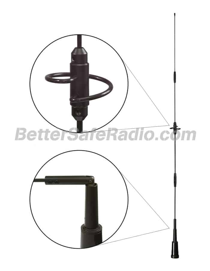 Powerwerx ANTGAIN Dual-Band MURS GMRS PS HAM Mobile Antenna