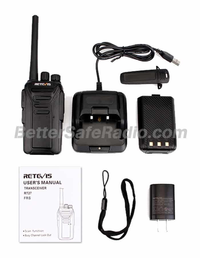 Retevis RT27 FRS Personal Business License-Free Two-Way Radio - Contents
