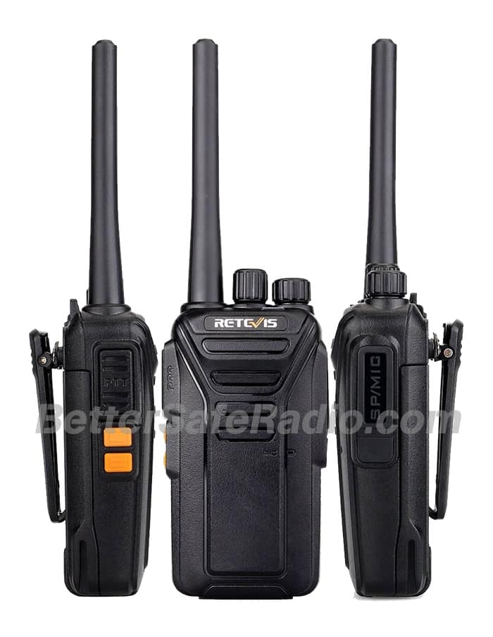 Retevis RT27V MURS Personal Business License-Free Two-Way Radio - Sides