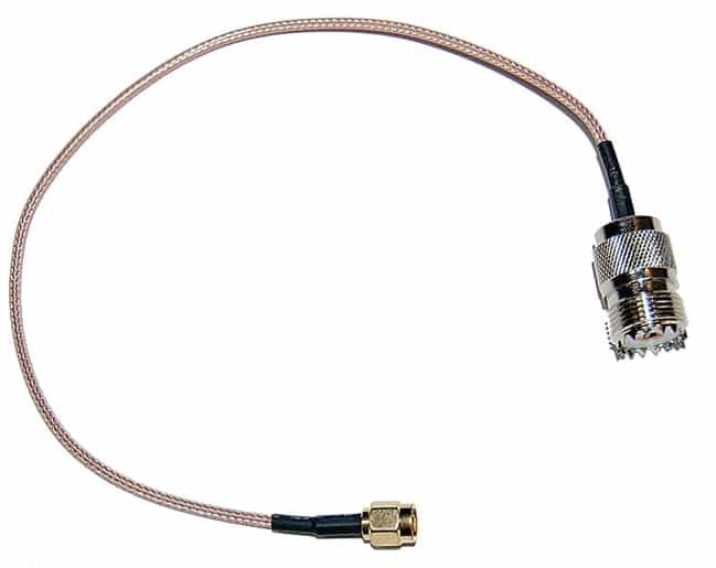 "SMA Male to SO-239 6"" Coax Adapter Jumper"