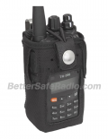 TERA CSC-590 Heavy Duty Nylon Windowed Radio Case with Stainless Belt Clip