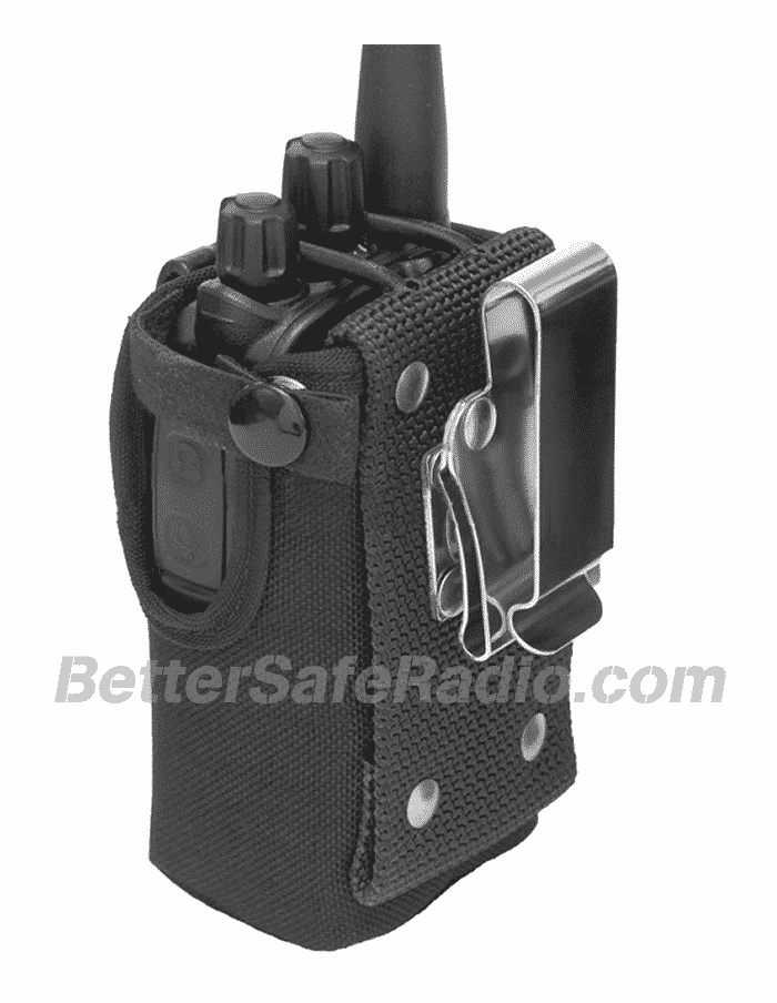 TERA CSC-590 Heavy Duty Nylon Windowed Radio Case - Back