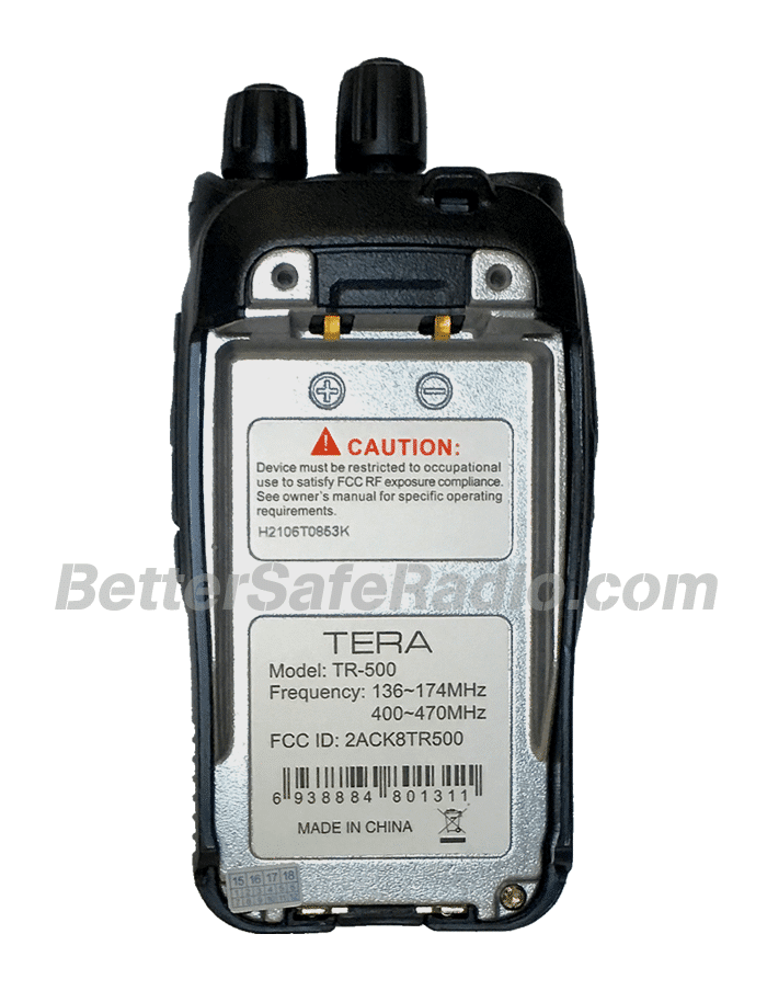 TERA TR-500 Commercial Ham Two-Way Radio - Body Back