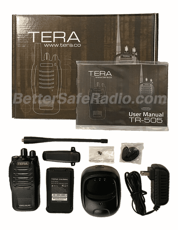 TERA TR-505 GMRS-MURS Two-Way Radio - Contents
