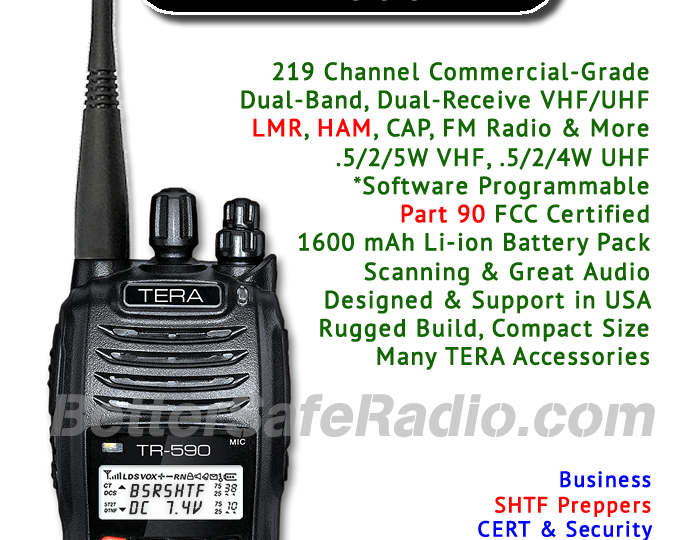 Are you Ready For SHTF? The TR-590 Emergency Two-Way Radio Is!