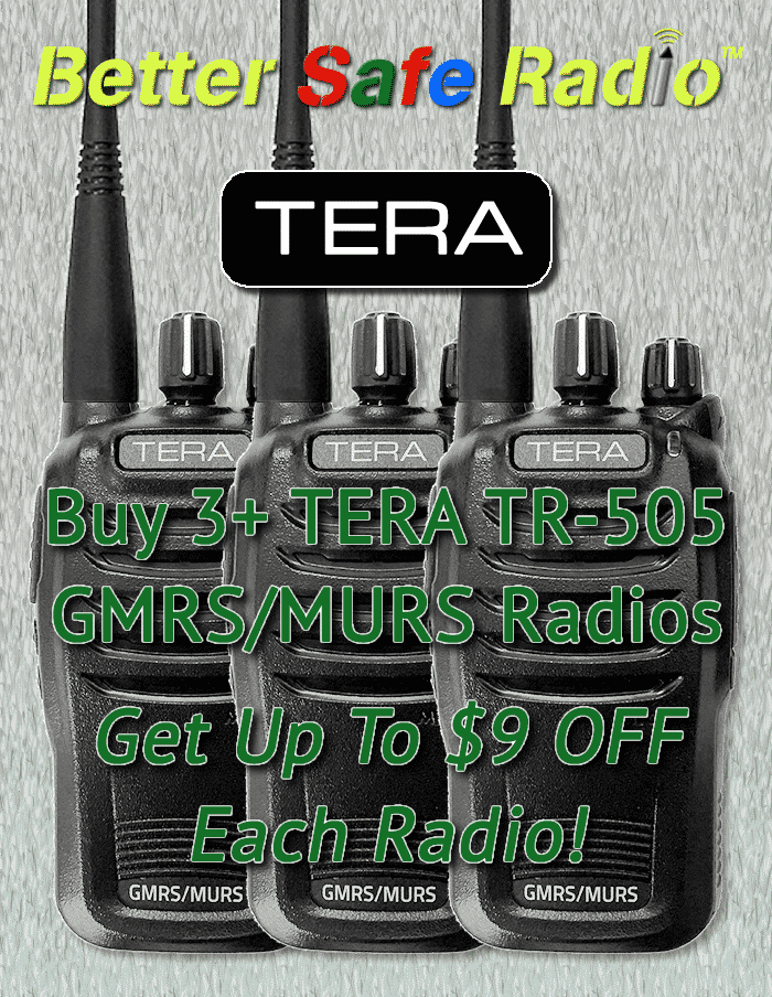 Buy 3+ TERA TR-505 Radios & Get Up To $9 OFF Each Radio!