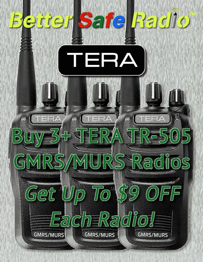 Buy 3+ TERA TR-505 Radios & Get Up To $9 OFF Each Radio!