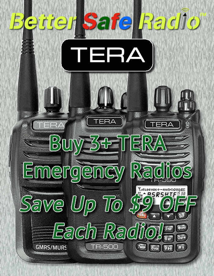 Buy 3+ TERA Emergency Radios & Save Up To $9 OFF Each Radio!