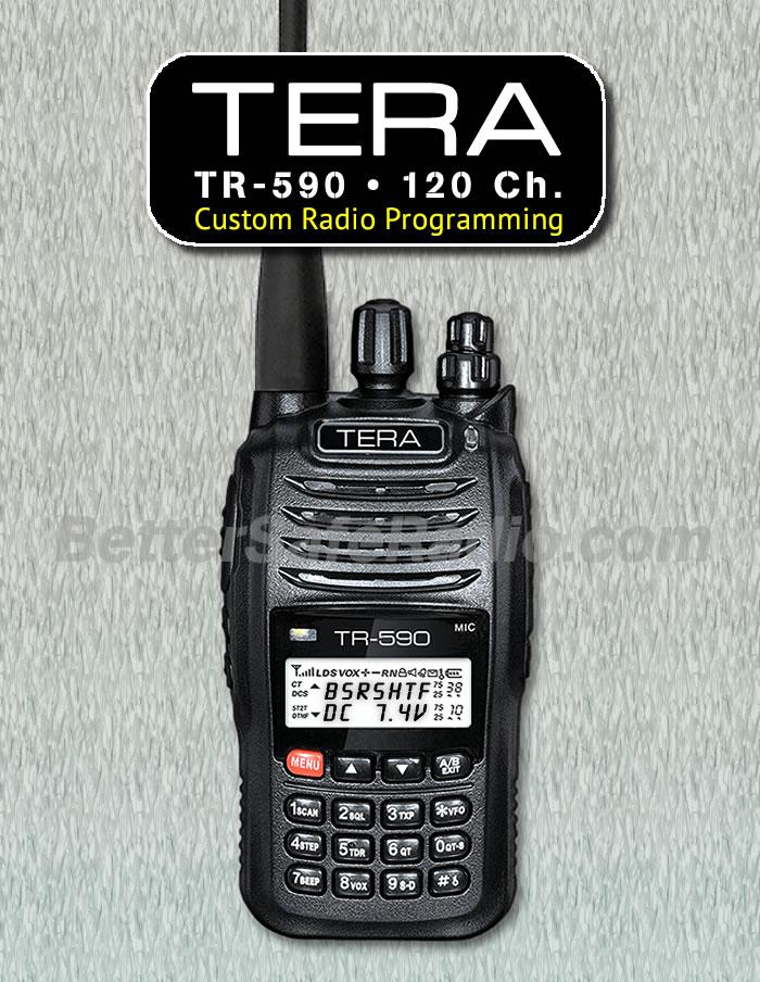 TERA TR-590 Custom Radio Programming - 120 Channels