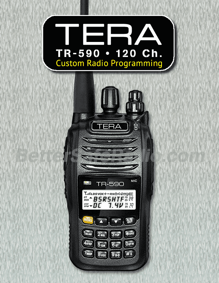TERA TR-590 Custom Radio Programming - 120 Channels