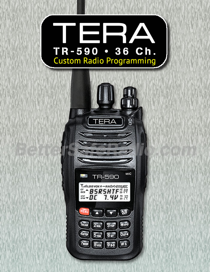TERA TR-590 Custom Radio Programming - 36 Channels