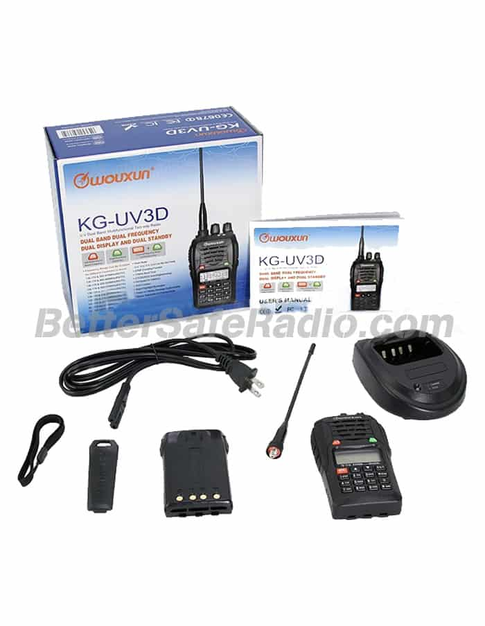 Wouxun KG-UV3D Commercial Ham Two-Way Radio - Contents