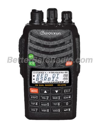 The front view of the Wouxun KG-UV7D Commercial Ham Two-Way Radio