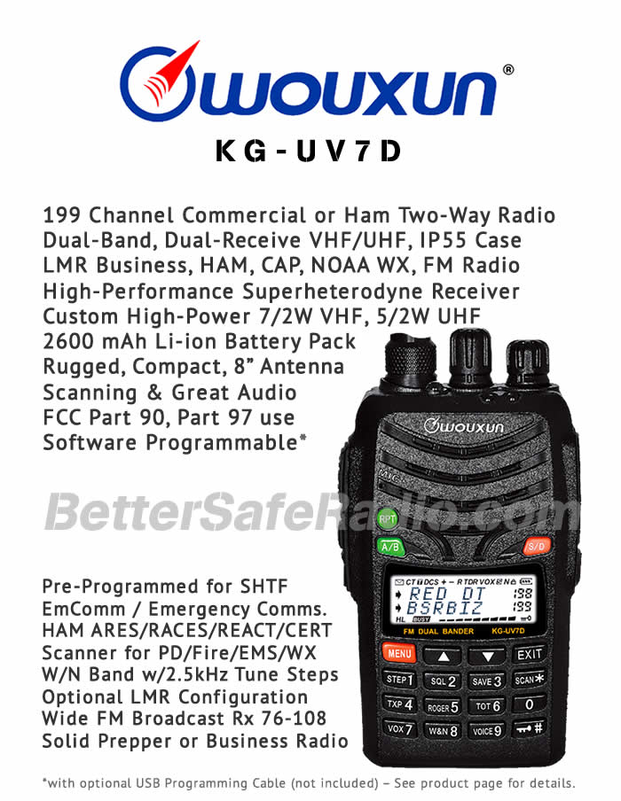 Wouxun KG-UV7D Commercial LMR or Ham Two-Way Radio - Flyer