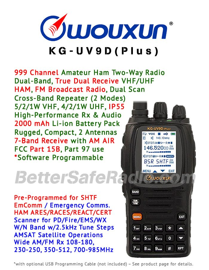 Wouxun KG-UV9D(Plus) Amateur Ham Two-Way Radio - Features Flyer