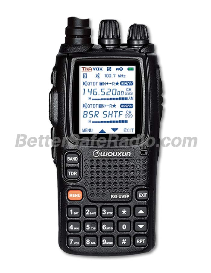 The front view of the Wouxun KG-UV9P Amateur Ham Two-Way Radio