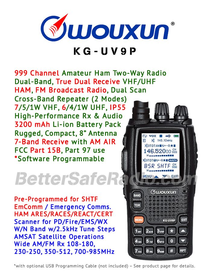 Wouxun KG-UV9P Amateur Ham Two-Way Radio - Features Flyer
