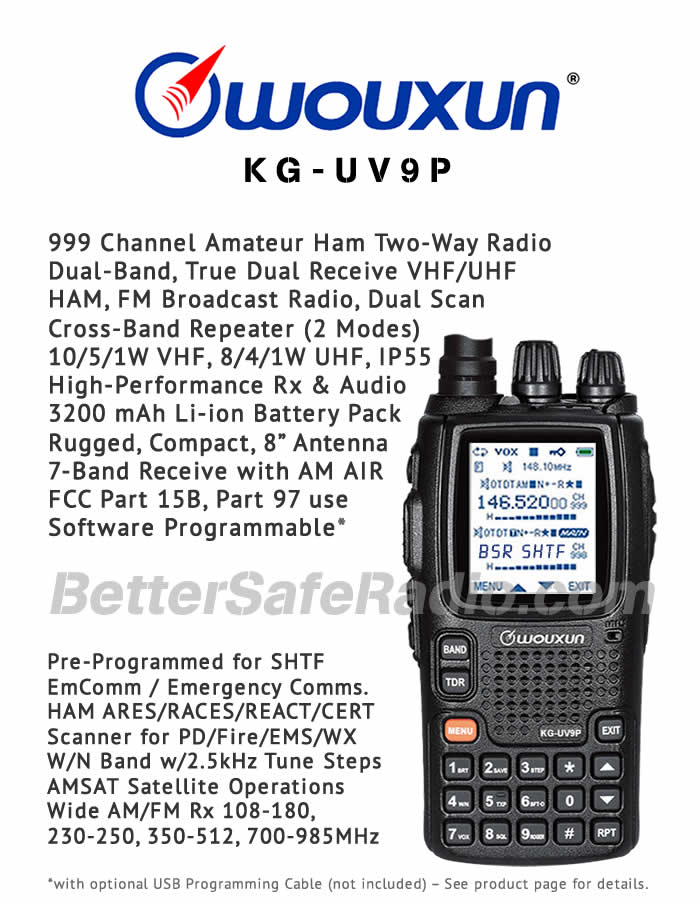 Wouxun KG-UV9P Amateur Ham Two-Way Radio - Flyer