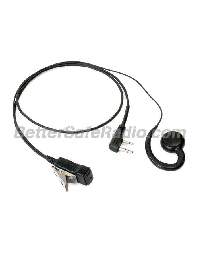 Wouxun WXGHK Comfortable G-Hook Earpiece with Lapel Microphone