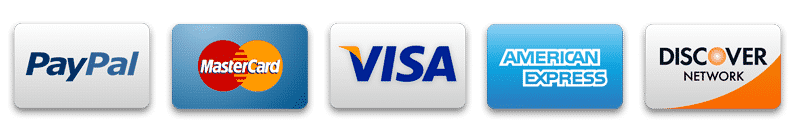 PayPal & Major Credit Cards Accepted
